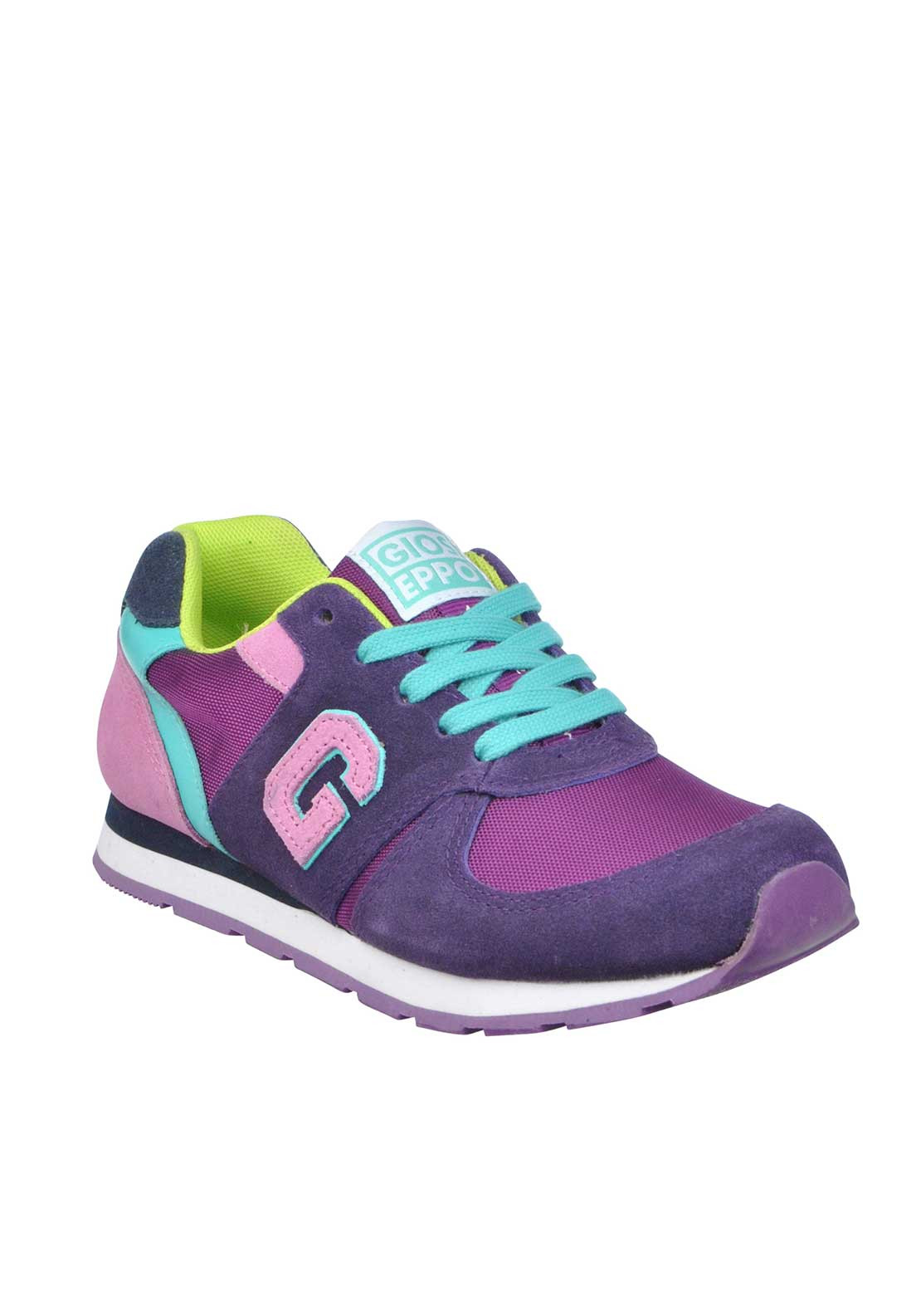 Gioseppo Betroka Suede Panel Trainers, Purple