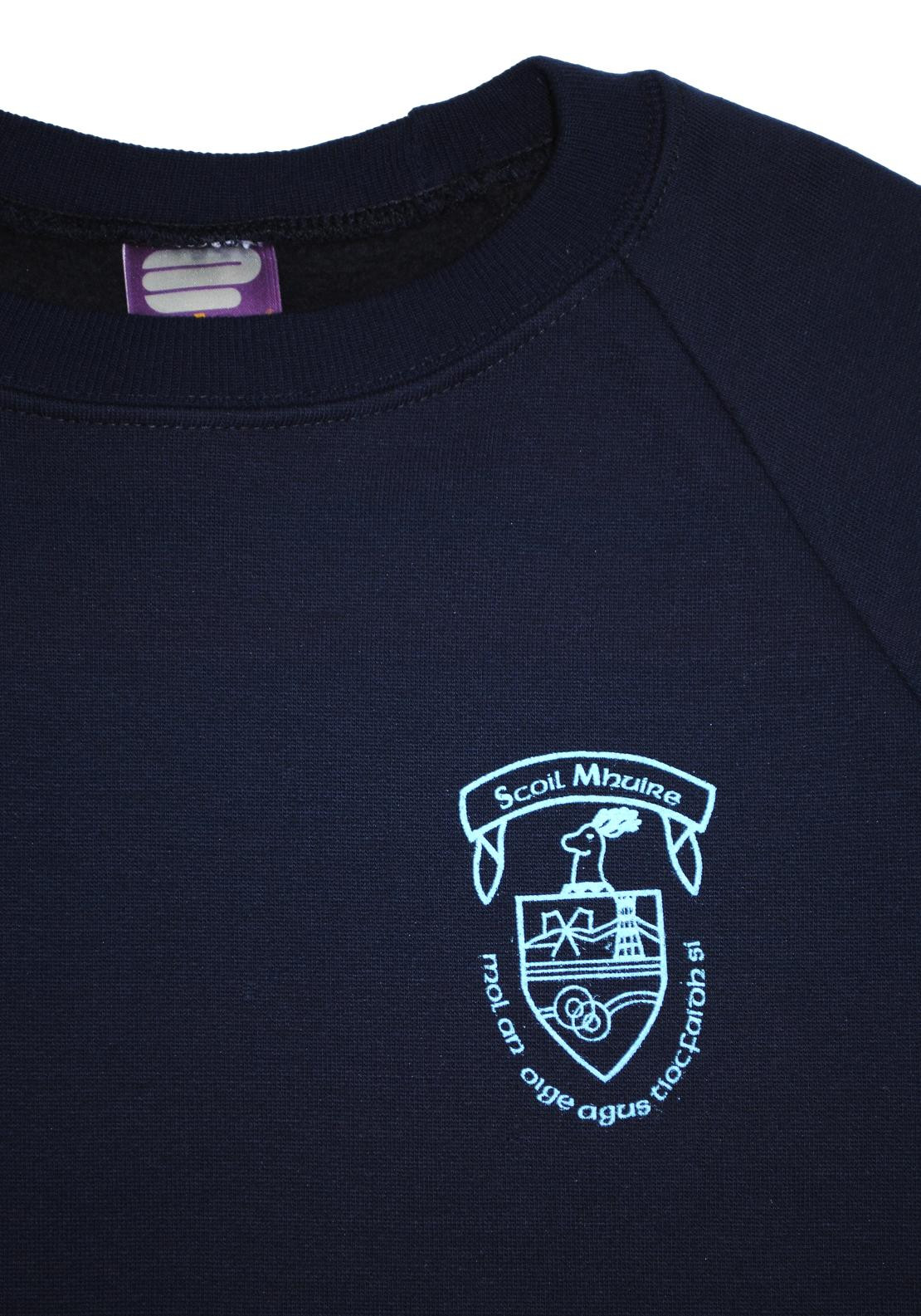 St. Mary's School Stranorlar Crested Jumper, Navy