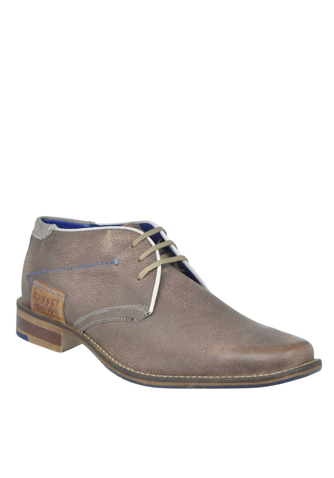Bugatti Leather Lace Up Desert Boot, Pale Brown