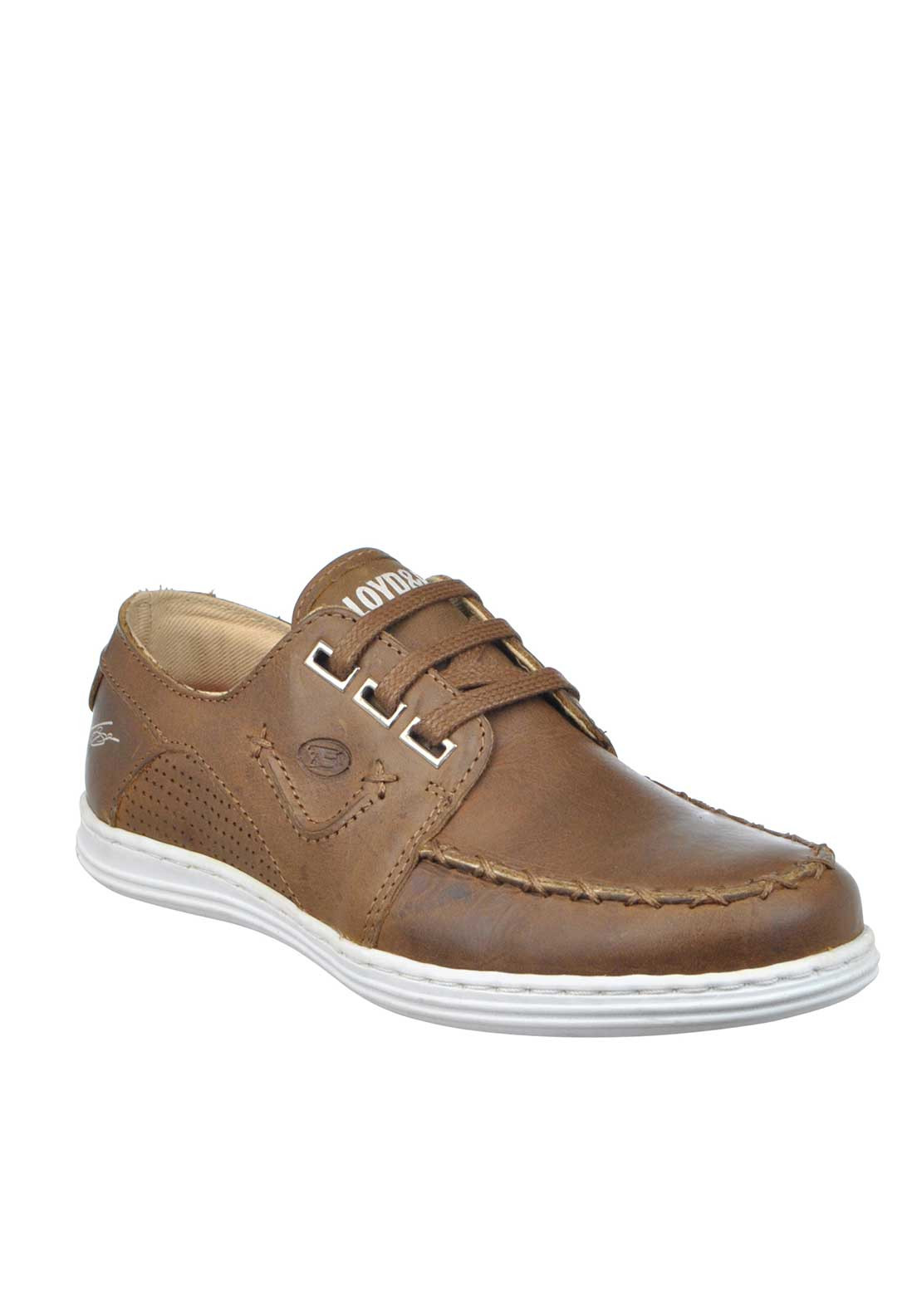 Lloyd & Pryce Tommy Bowe Boys Cullen Leather Laced Shoes, Brown