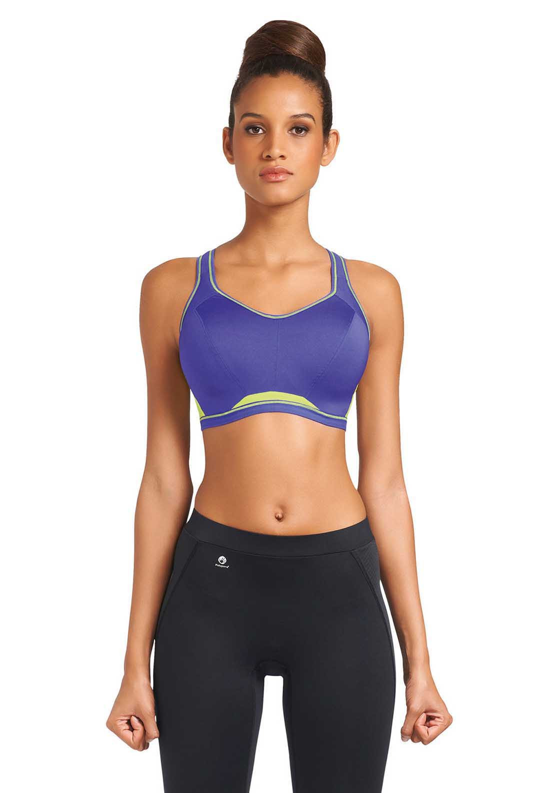 Freya Active Underwired Crop Top Sports Bra, Indigo