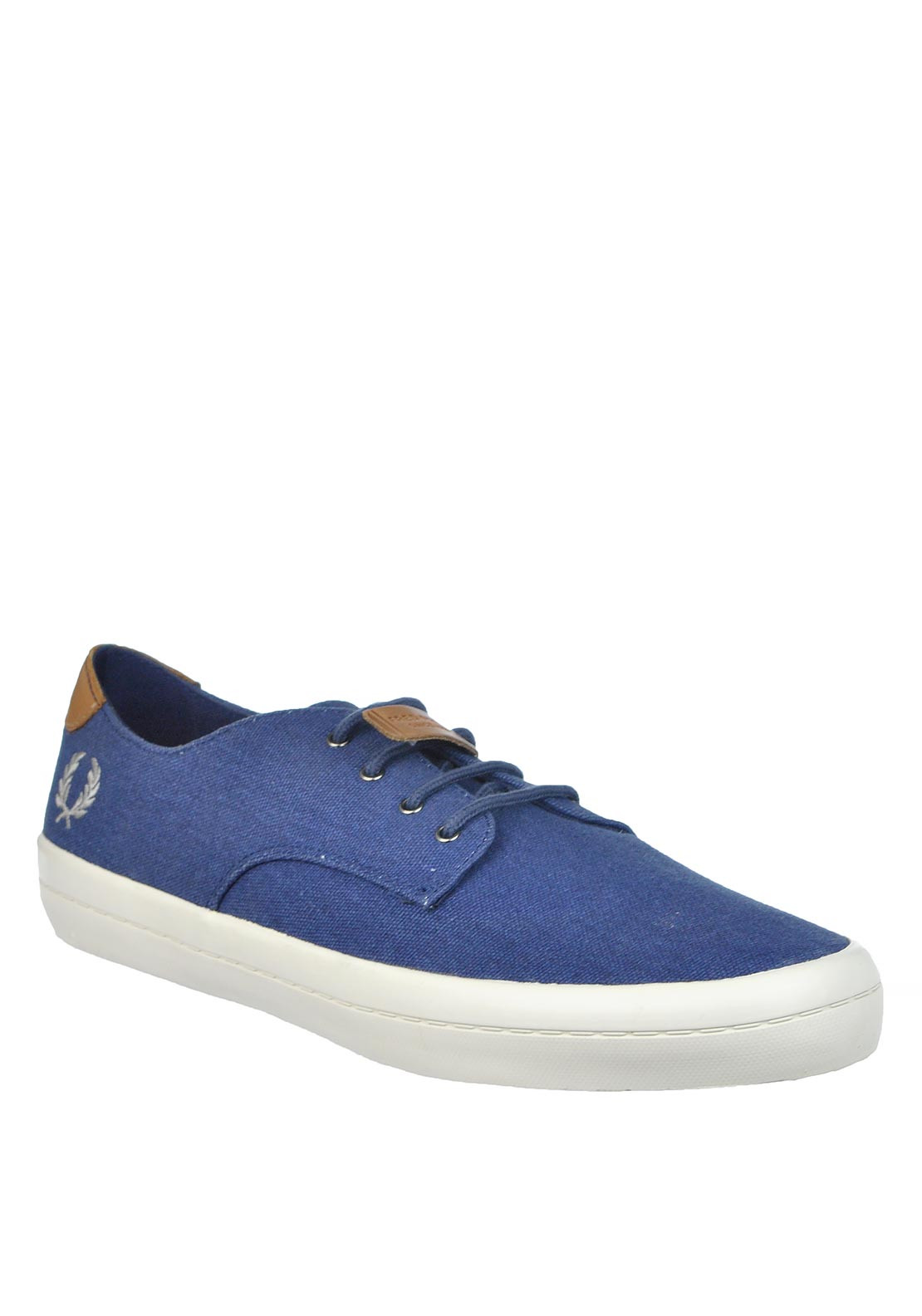 Fred Perry Mens Savit Printed Canvas, Denim Blue