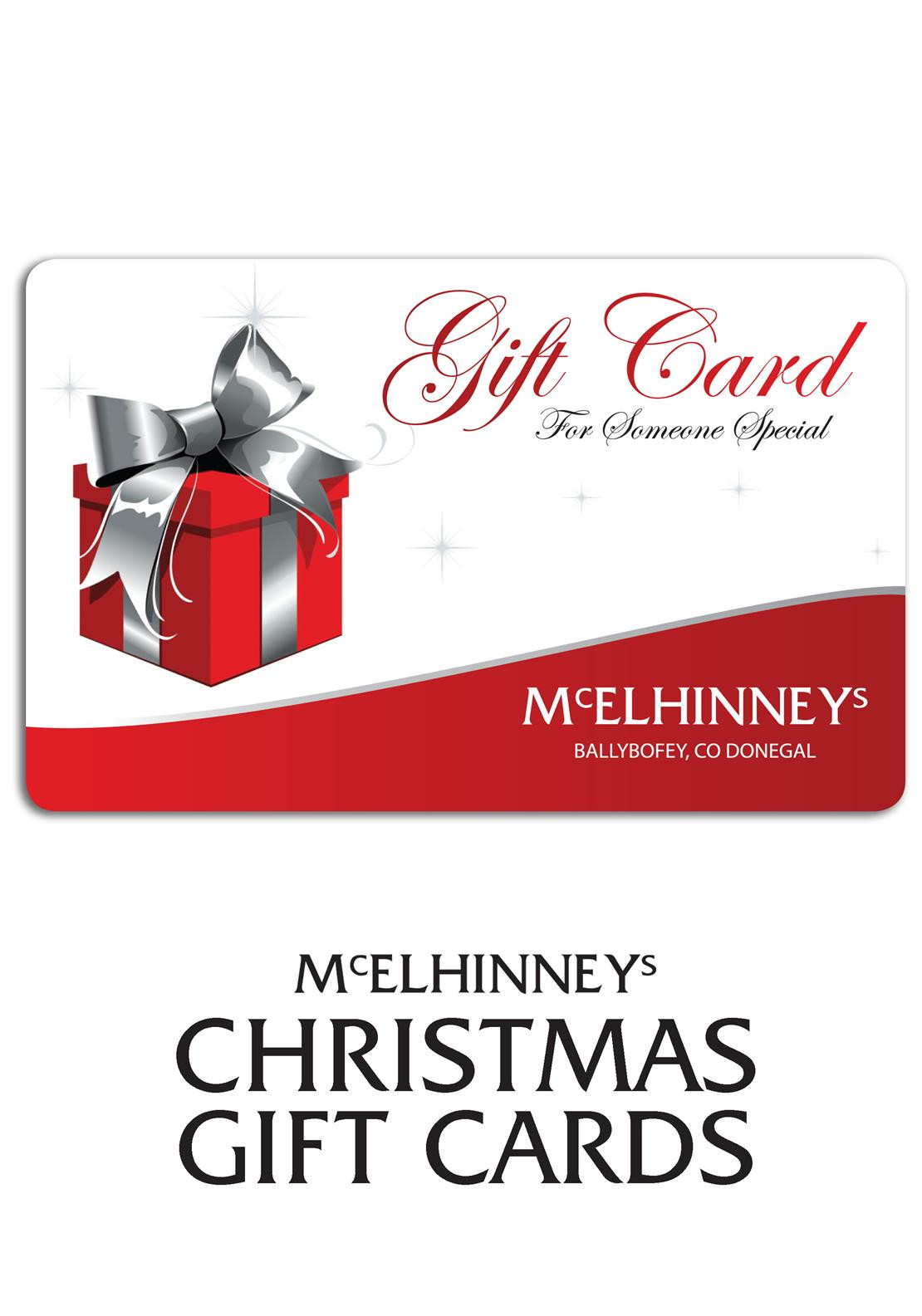 Purchase a McElhinneys Christmas Gift Card From €20...FREE Postage