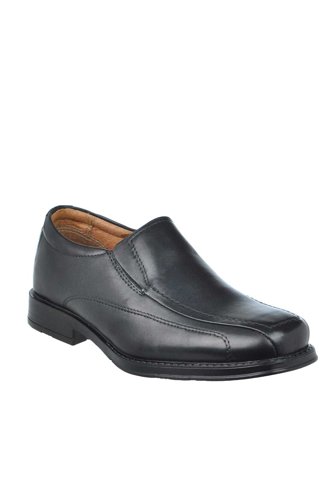 Dubarry Boys Geff Leather Slip On Loafer Shoes, Black