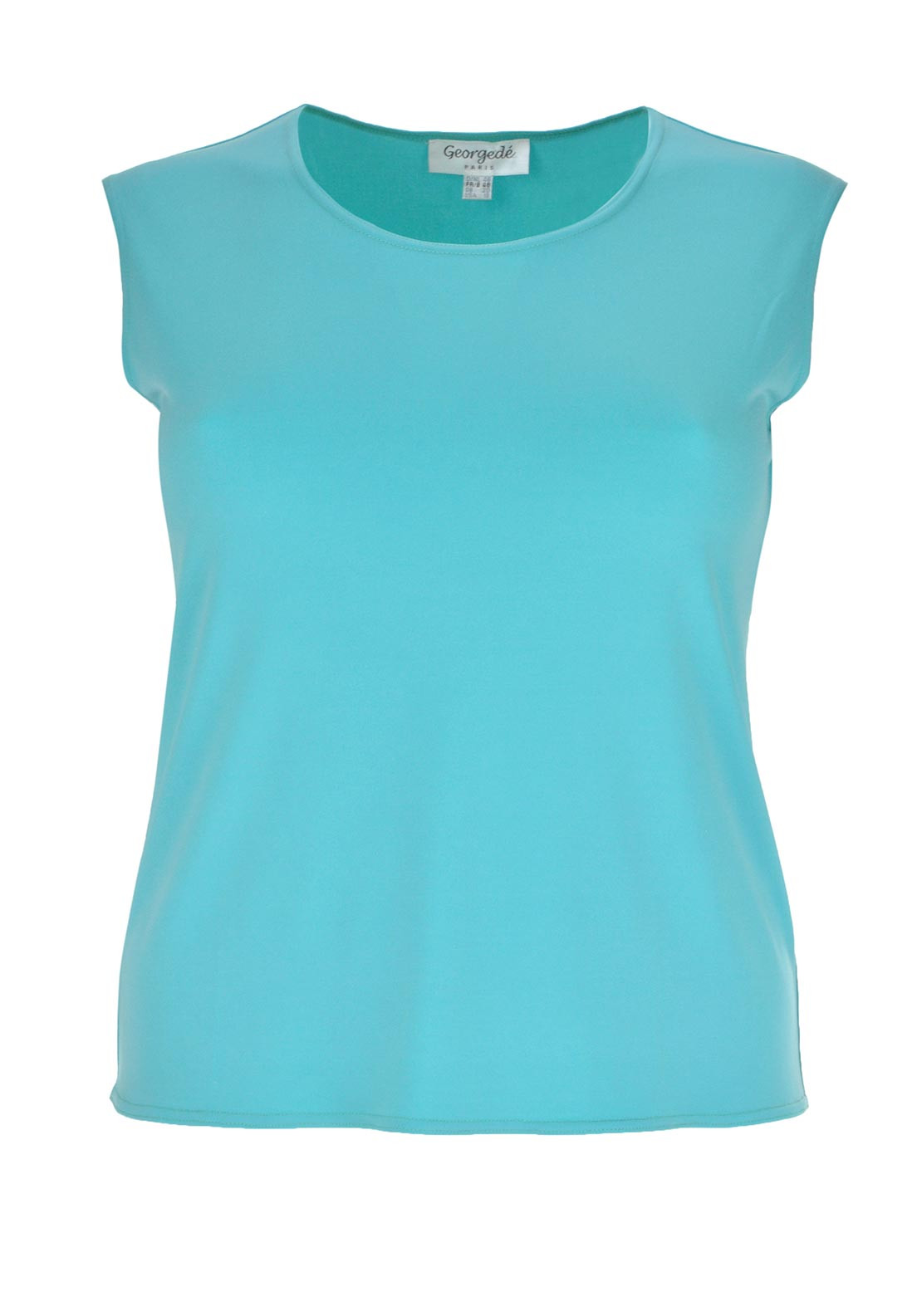Georgede Sleeveless Top, Aqua