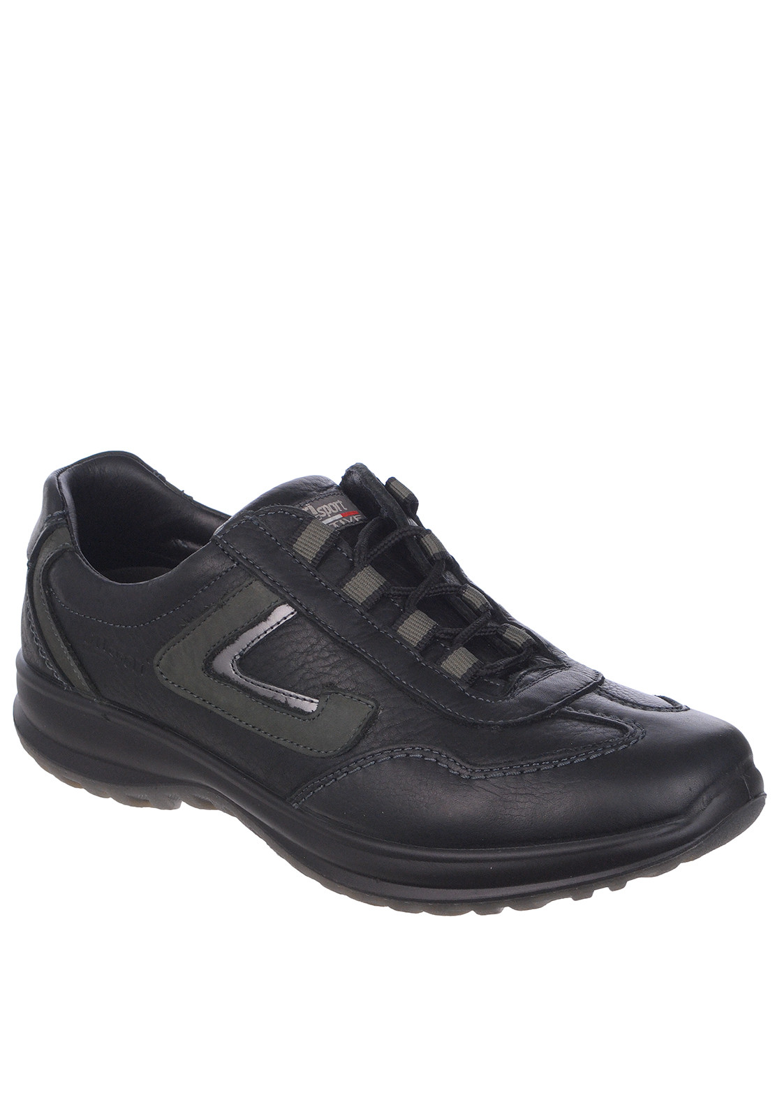 Grisport Mens Hamilton Leather Walking Shoe, Black