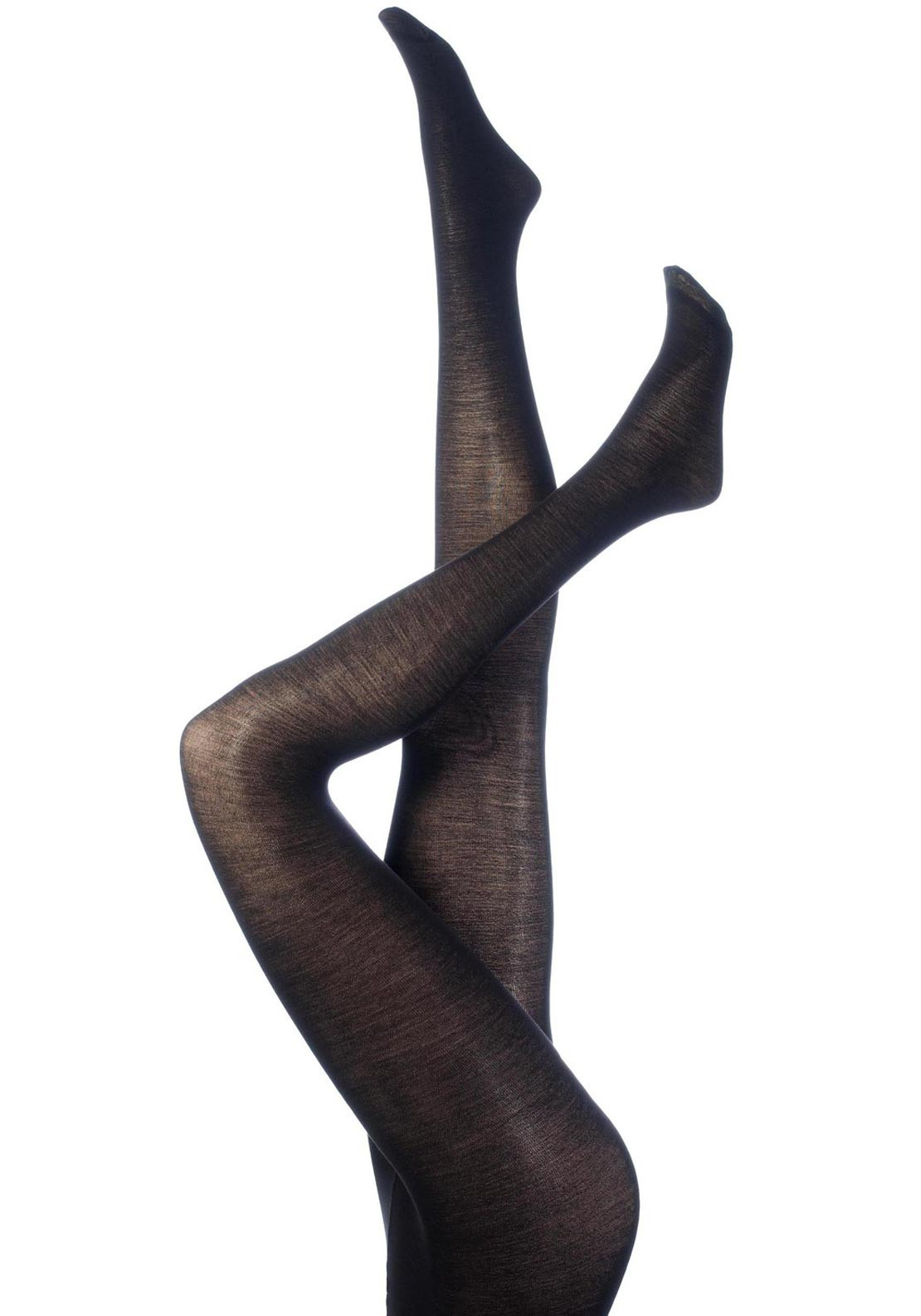 Levante Plain Wool 100 Denier Tights, Black