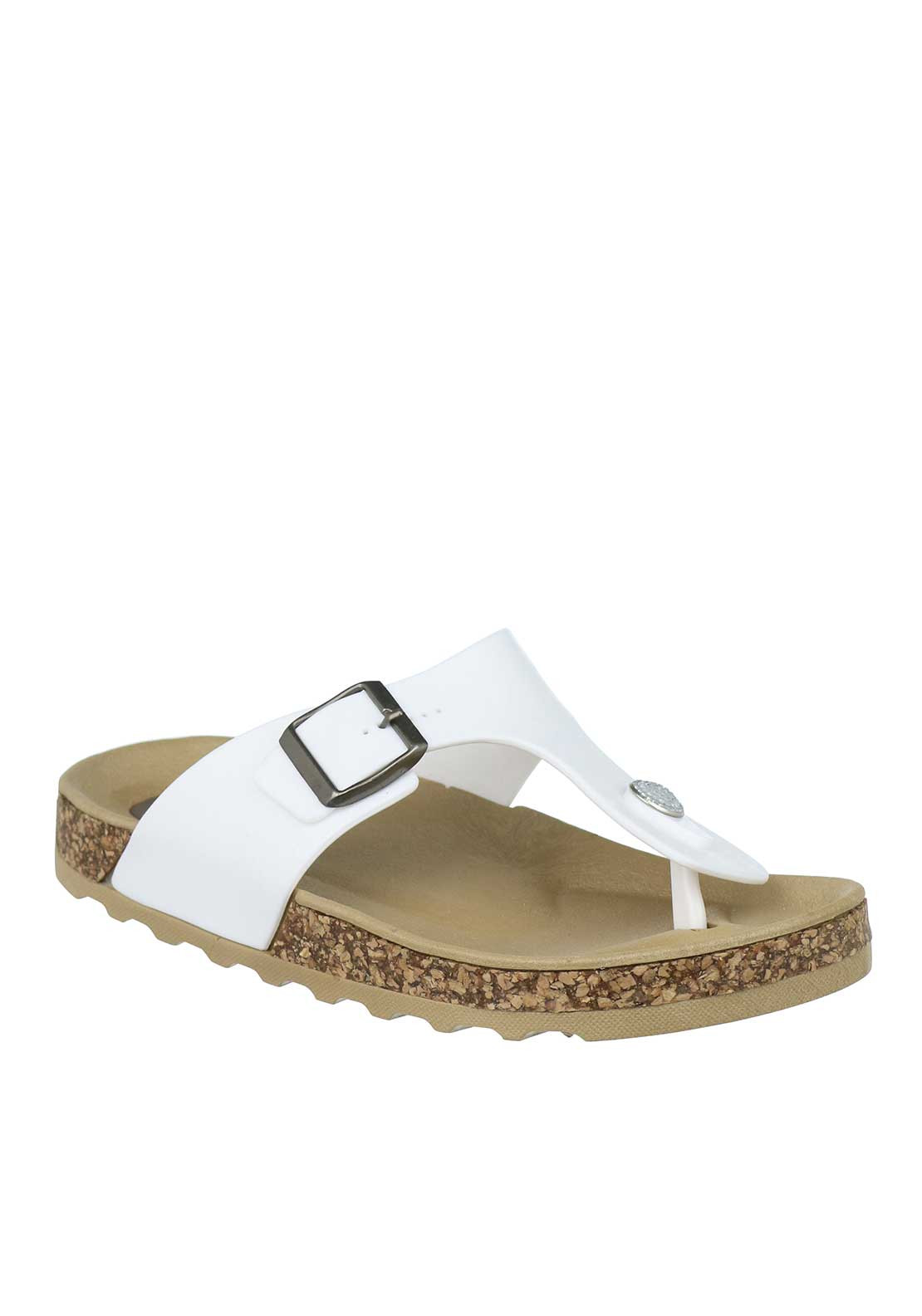 Lelli Kelly Toe Post Sorbetto Slip on Sandals, Coconut White