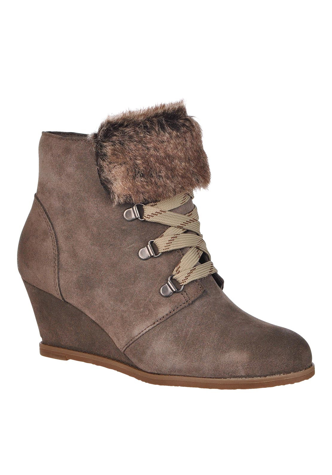 Clarks Womens Lumieres Wedge Boot, Brown