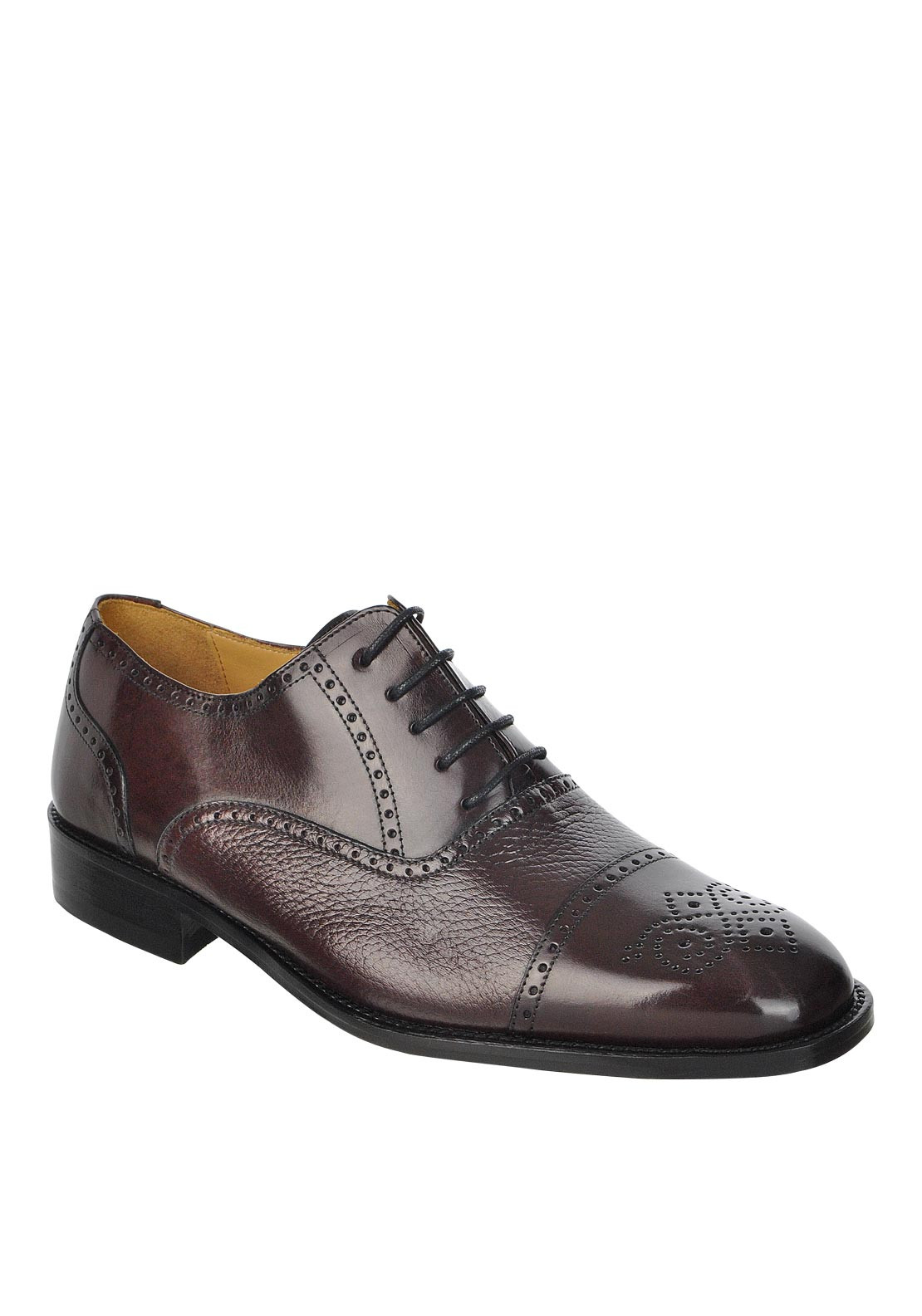 Mezlan Chelsea Leather Lace-Up Shoe, Burgundy