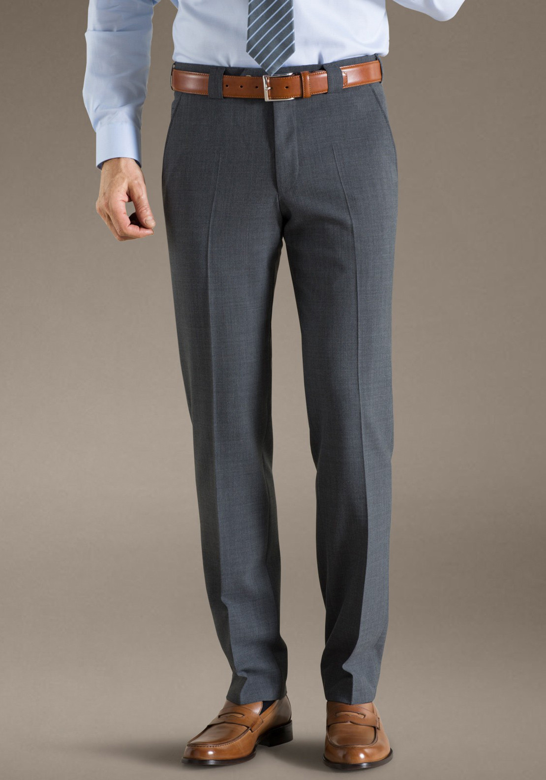 Meyer Monza Business Classic Trouser, Mid Grey