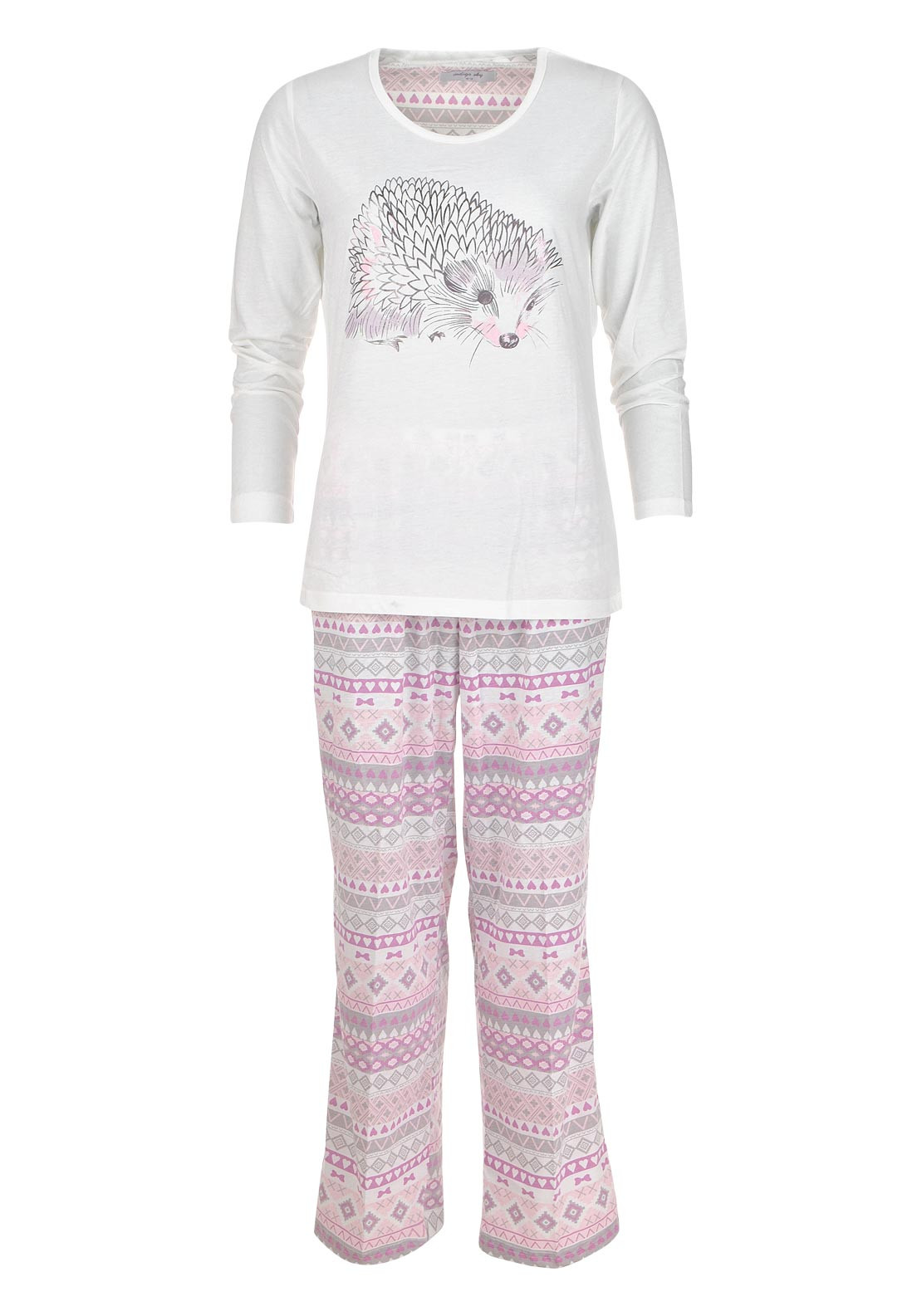 Marlon Hedgehog Print Pyjama Set, Multi-Coloured