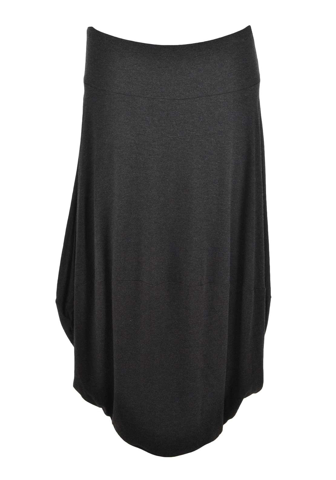 Naya Bubble Hem Midi Skirt, Charcoal Grey