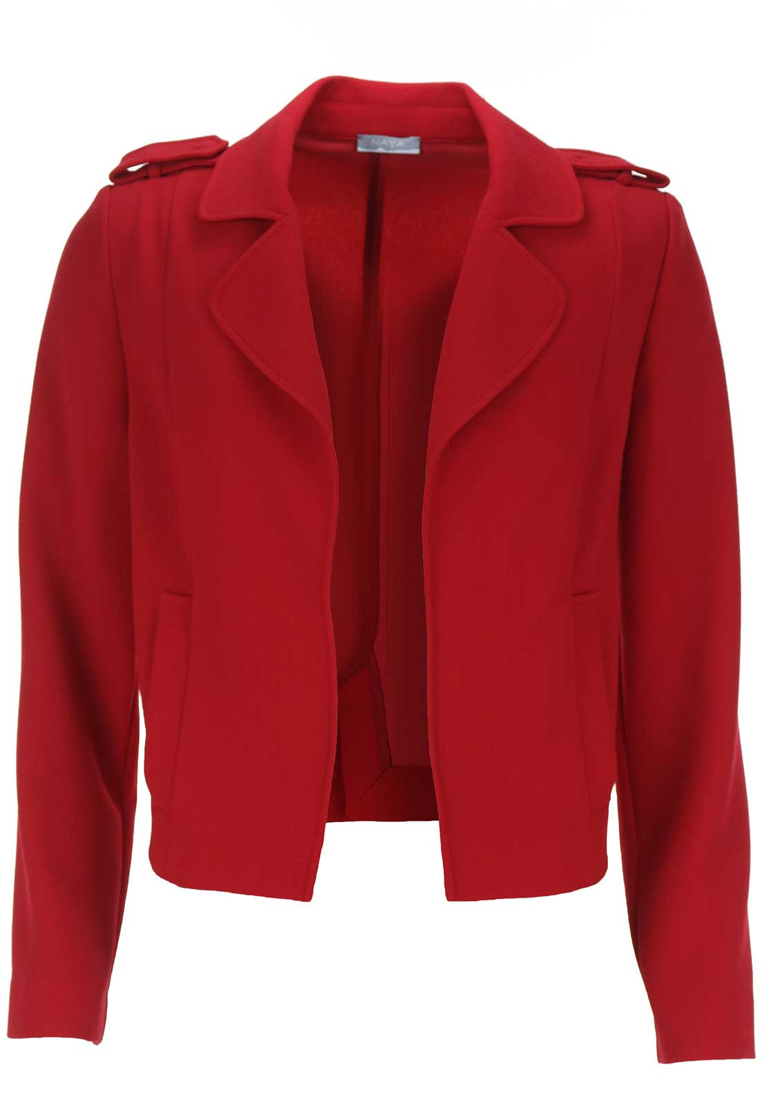 Naya Crepe Blazer Jacket, Red
