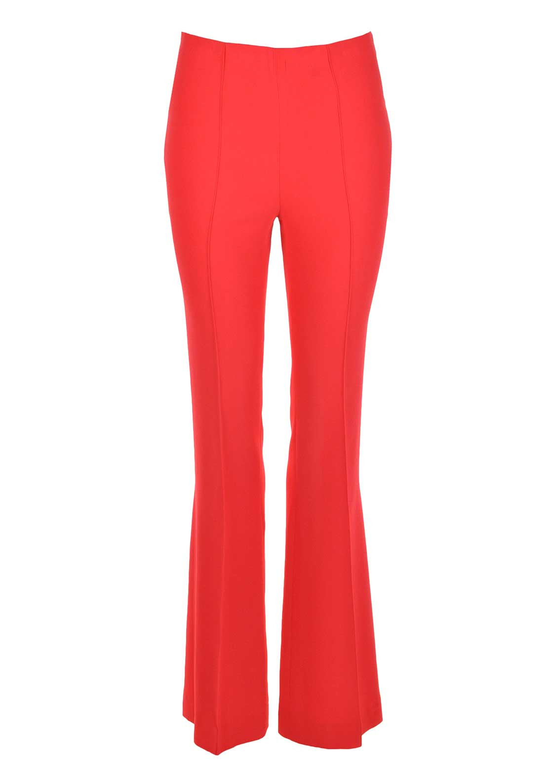 Oui Bootcut Trousers, Coral Red