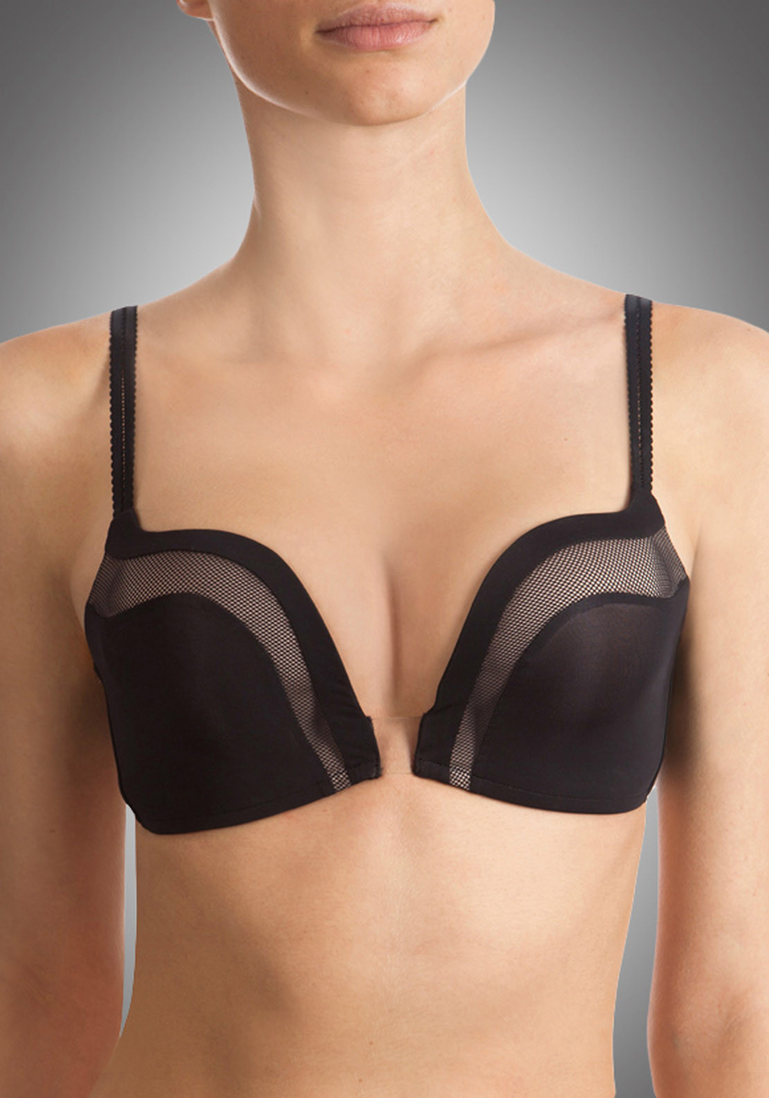 Wonderbra Ultimate Plunge Bra, Black