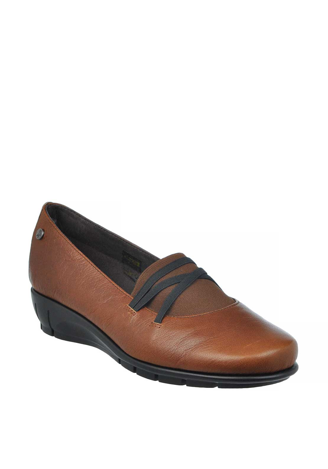Flex & Go Paris Leather Slip on Shoes, Cognac