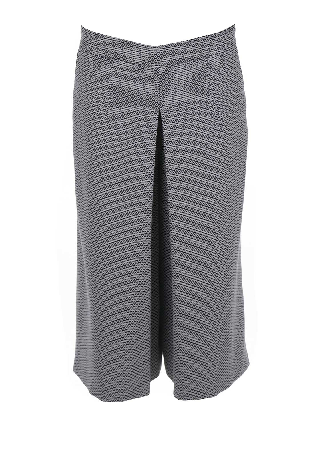 Peruzzi Printed Wide Leg Culotte Trousers, Navy