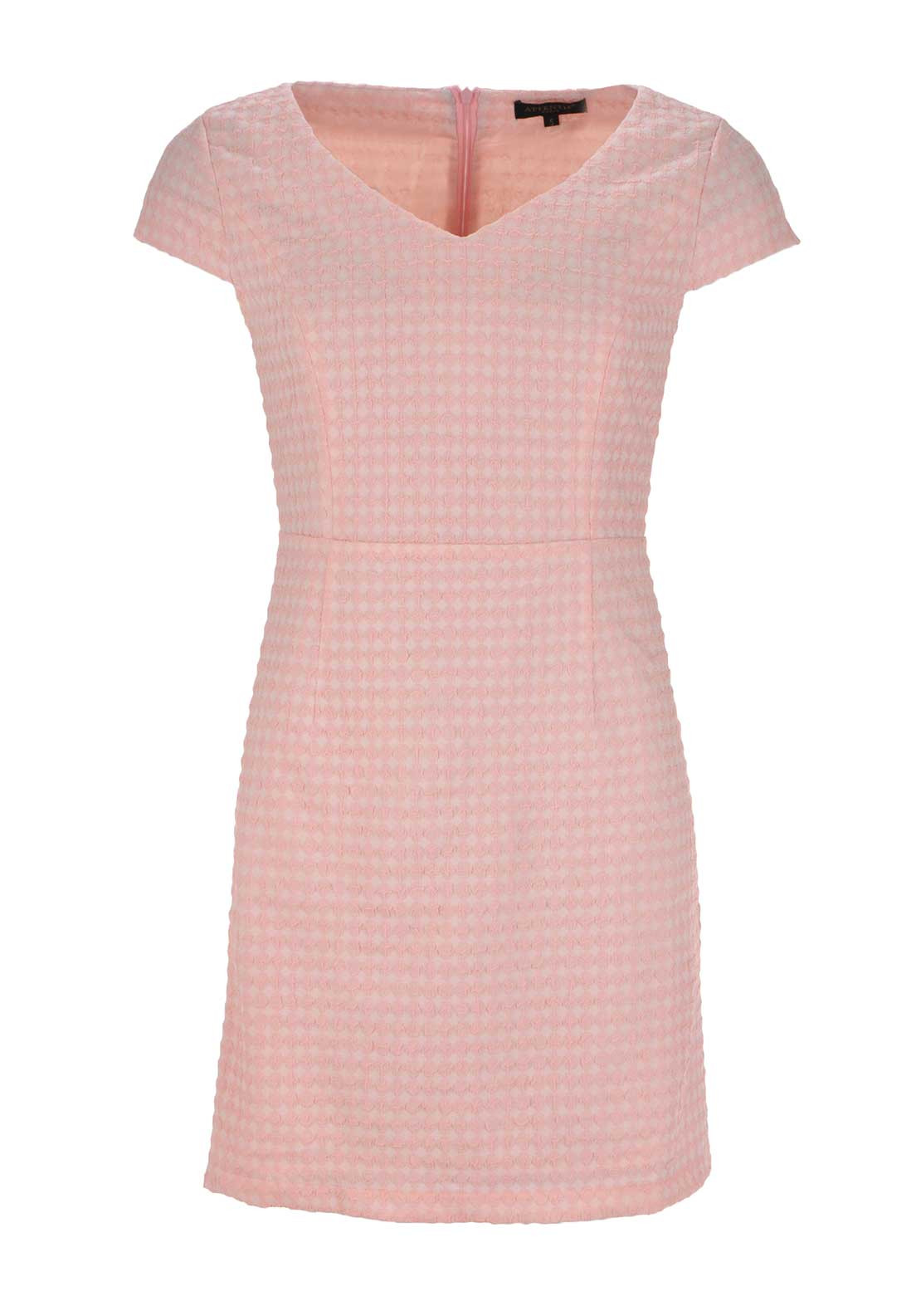 Boutique Graphic Print V Neck Shift Dress, Pink