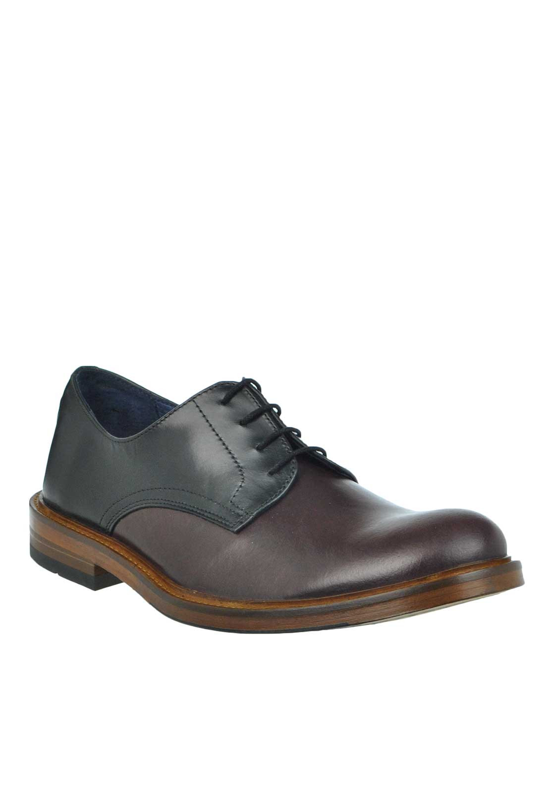 Remus Uomo Mens Gents Leather Lace Up Shoe, Wine