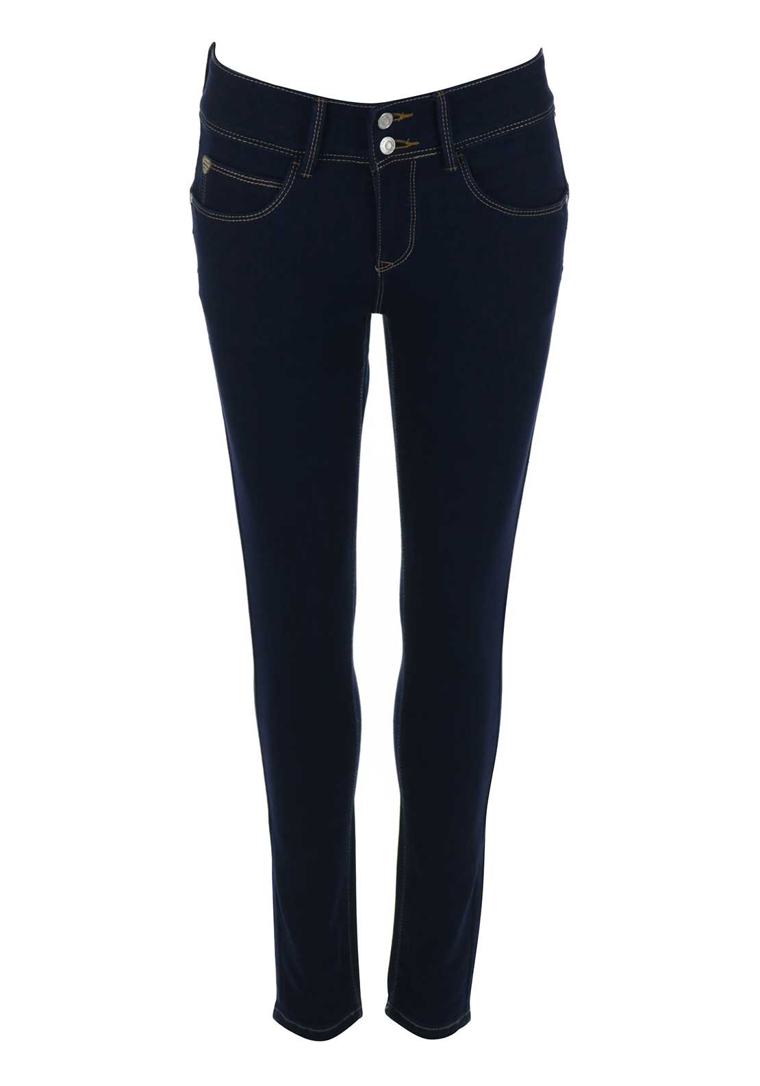 Rant & Rave Paloma High Waist Skinny Jeans, Blue Denim