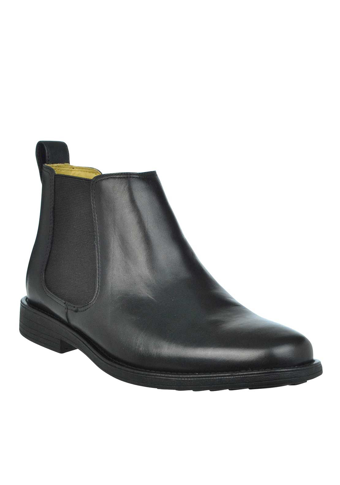 Steptronic Austin Leather Chelsea Boots, Black