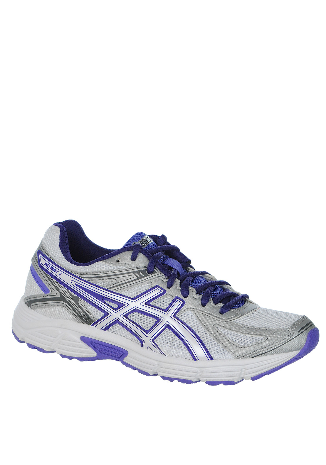 Asics Womens Patriot 7 Trainer, White/Purple