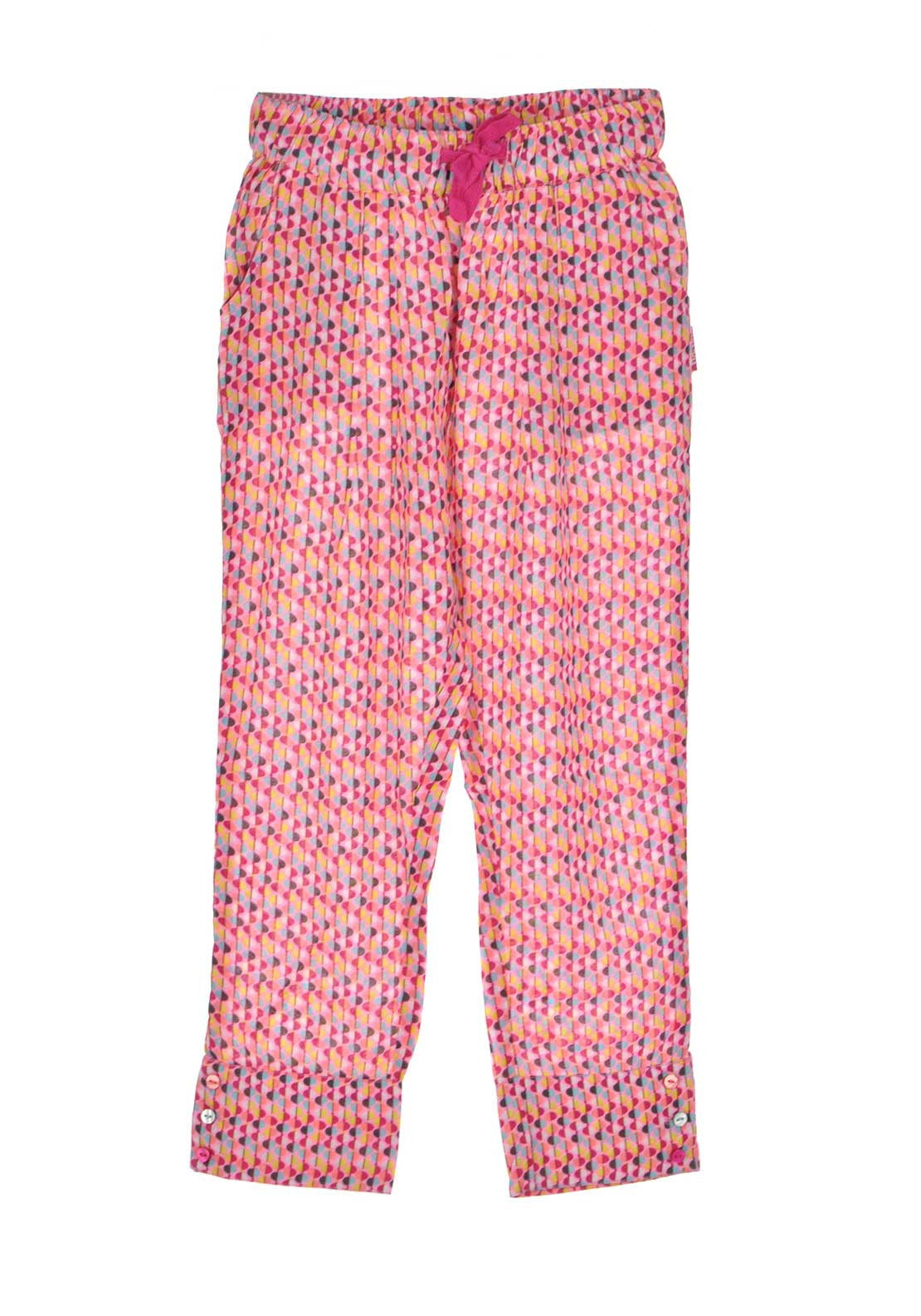 Tuc Tuc Girls Geo Print Trousers, Pink