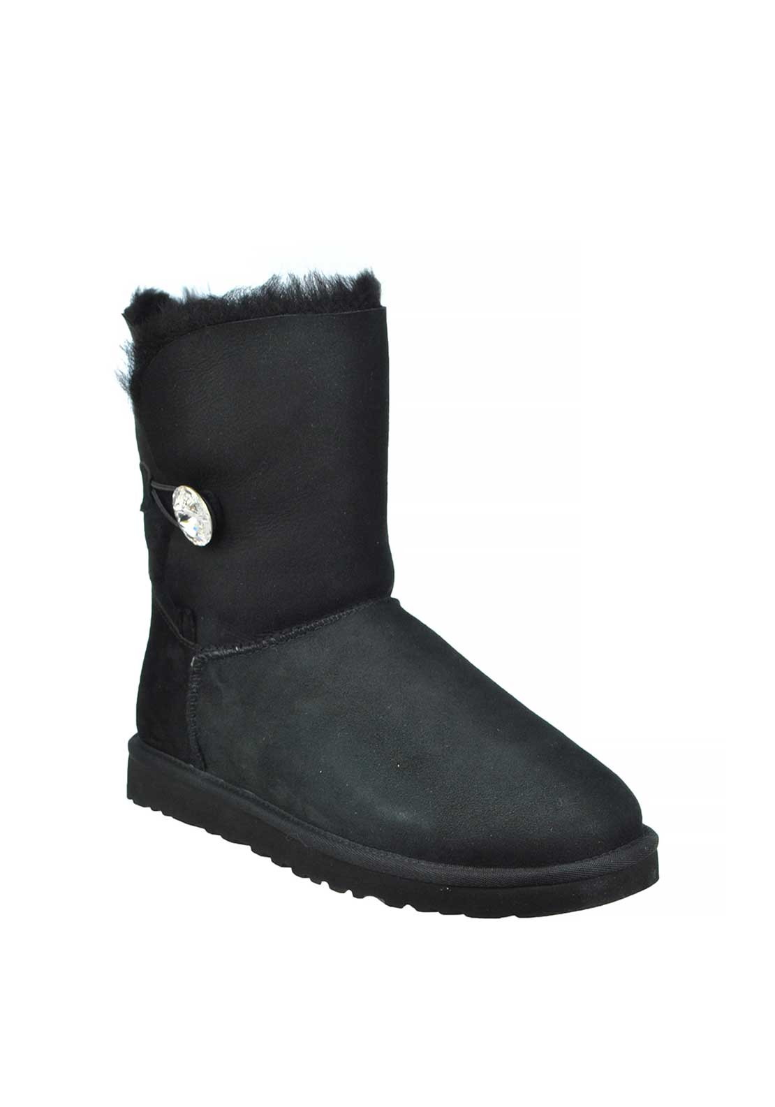 UGG Australia Womens Suede Bailey Bling Boots, Black