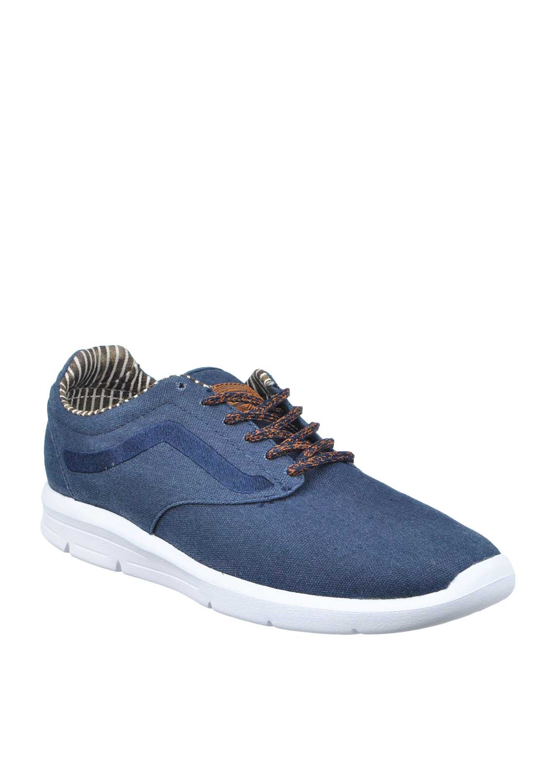 Vans Mens Waxed C&L Iso Lace Up Trainer, Navy