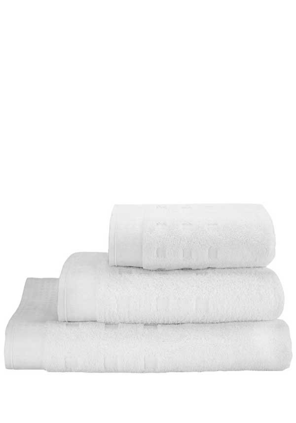 Vossen Country Style Towel Range, White