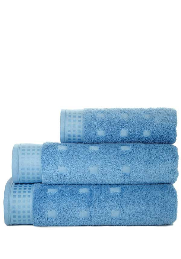 Vossen Country Style Towel Range, Steel Blue