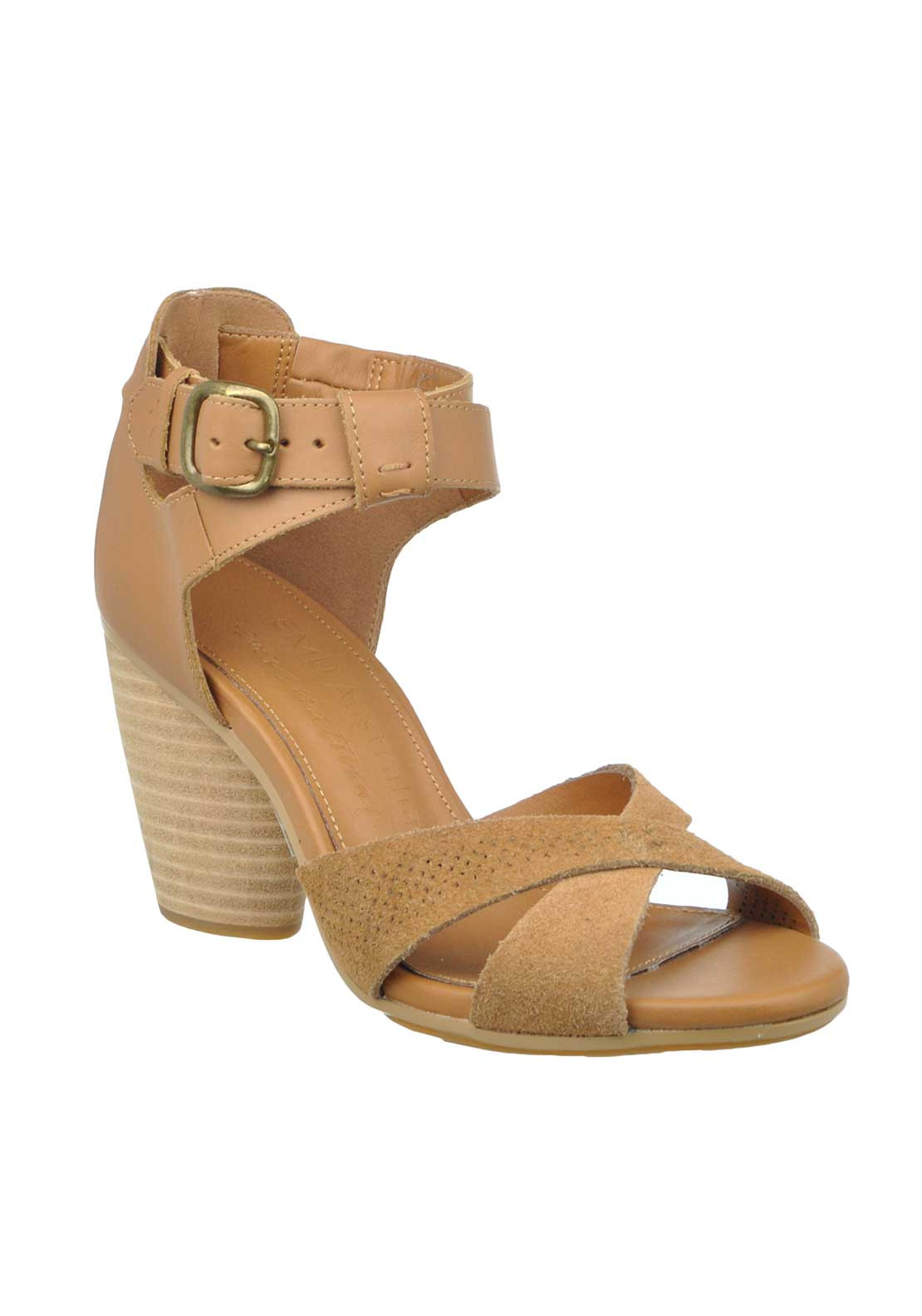 EMU Australia Tweed Leather Heeled Sandals, Tan