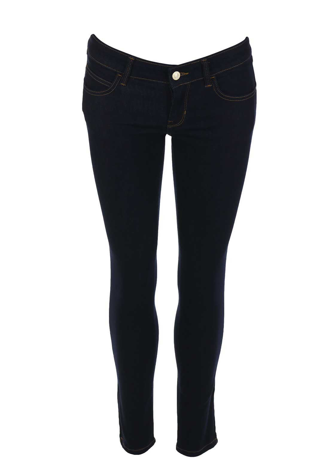 Guess Womens Marilyn 3 Zip Skinny 7/8 Jeans, Dark Blue Denim