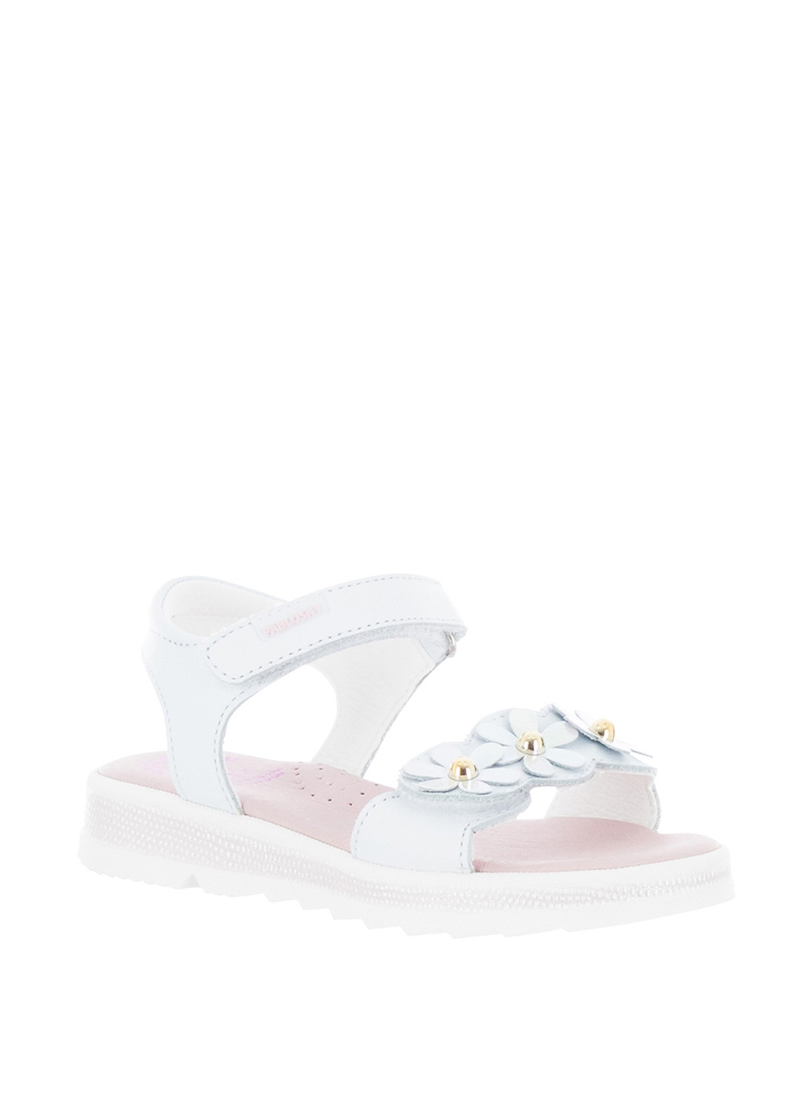 d2abf760 Pablosky Girls Flower Velcro Strap Sandals, White. Be the first to review  this product