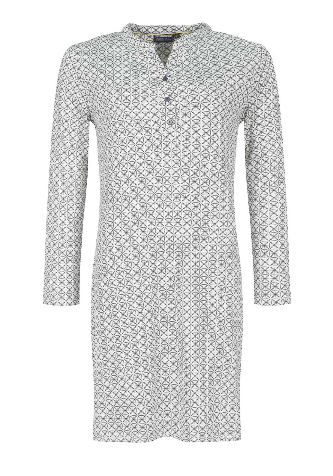 Pastunette Geometric Print Nightdress, Grey