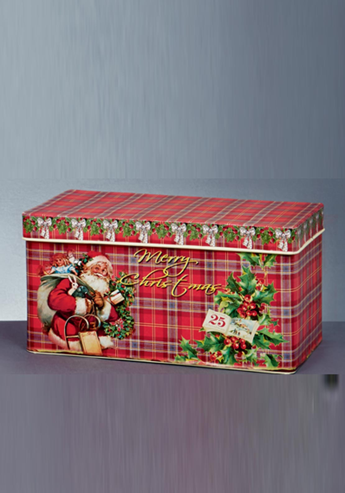 Premier Christmas Set of Three Santa Oblong Tins