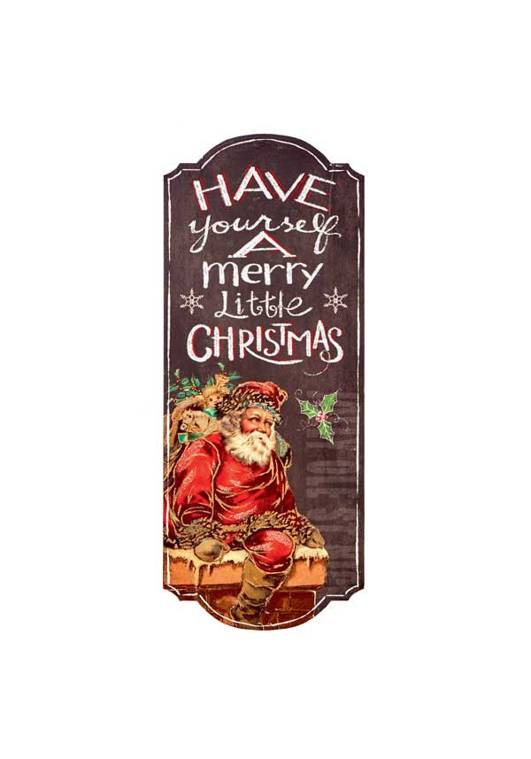 "Premier Vintage ""Merry Christmas"" Wooden Sign, 60cm"