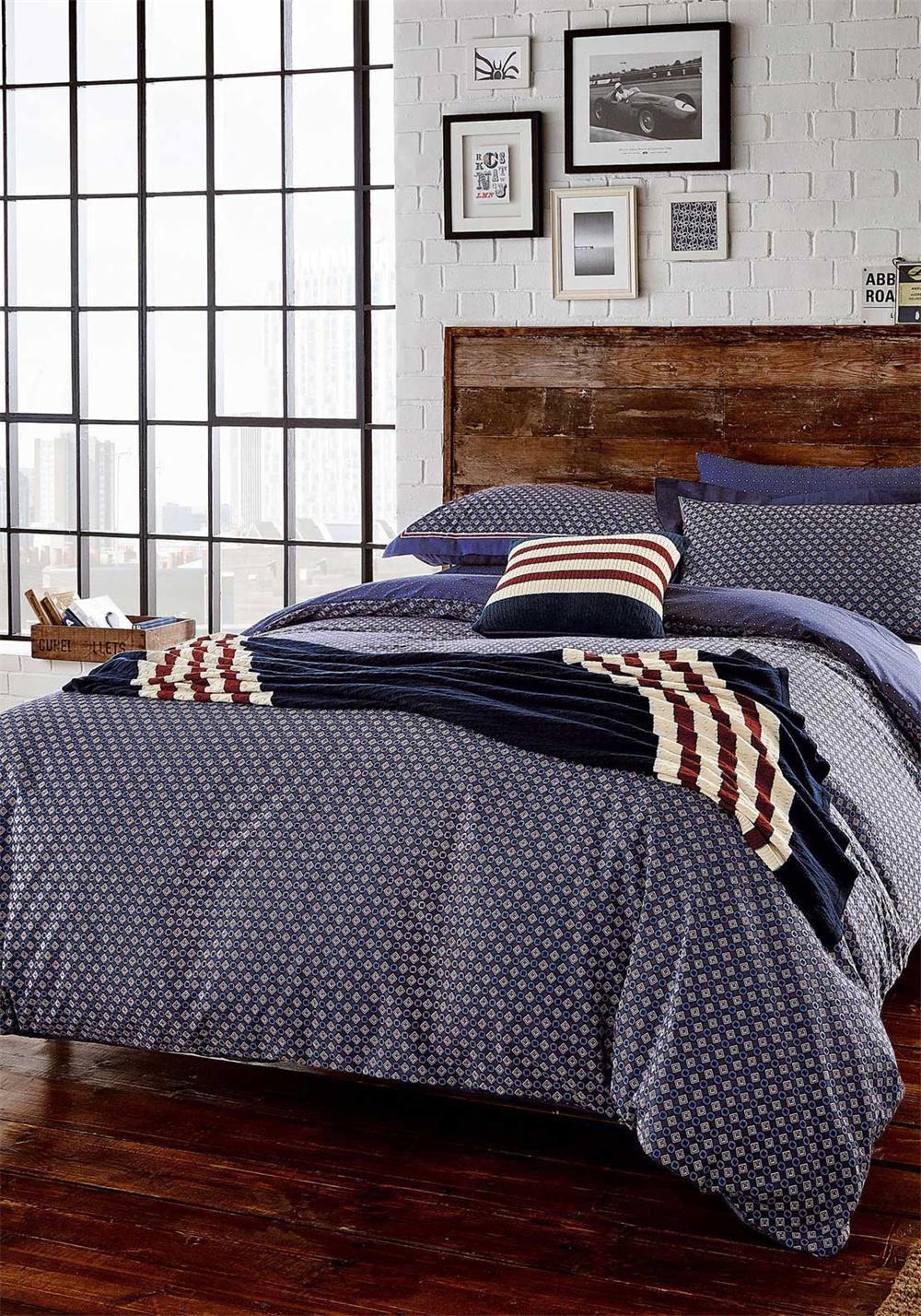 Peacock Blue Loft Berkeley Duvet Cover Set
