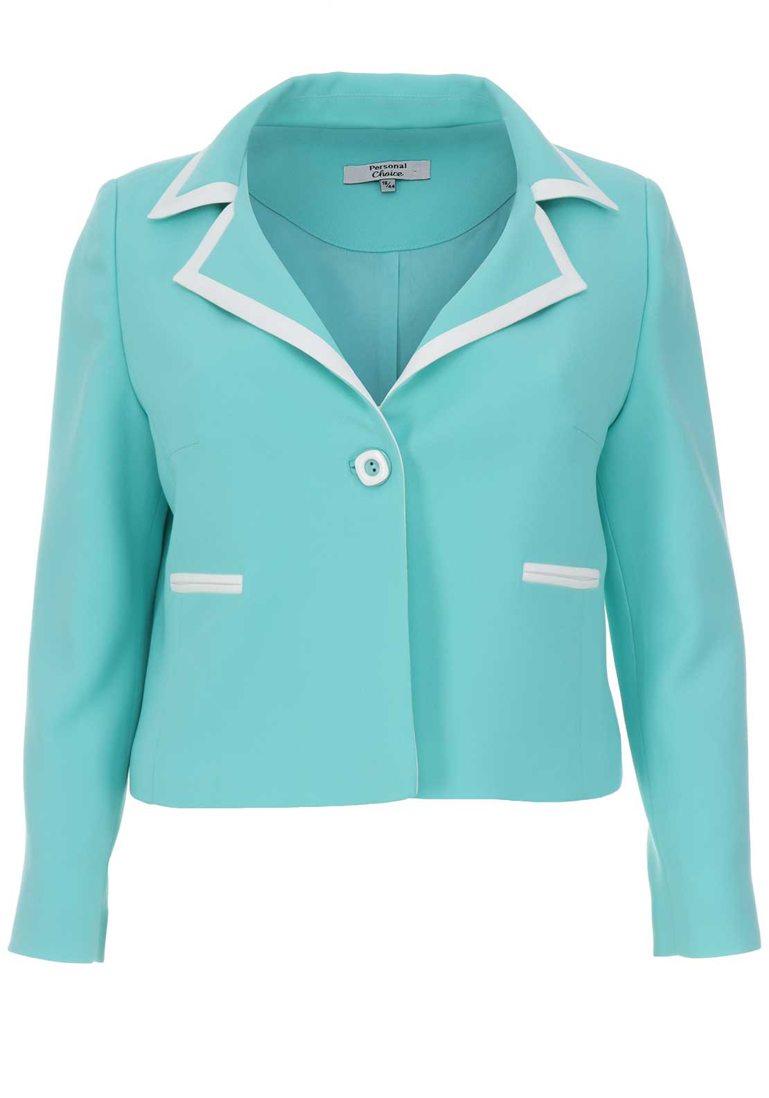 Personal Choice Crepe Blazer Jacket, Aqua Green