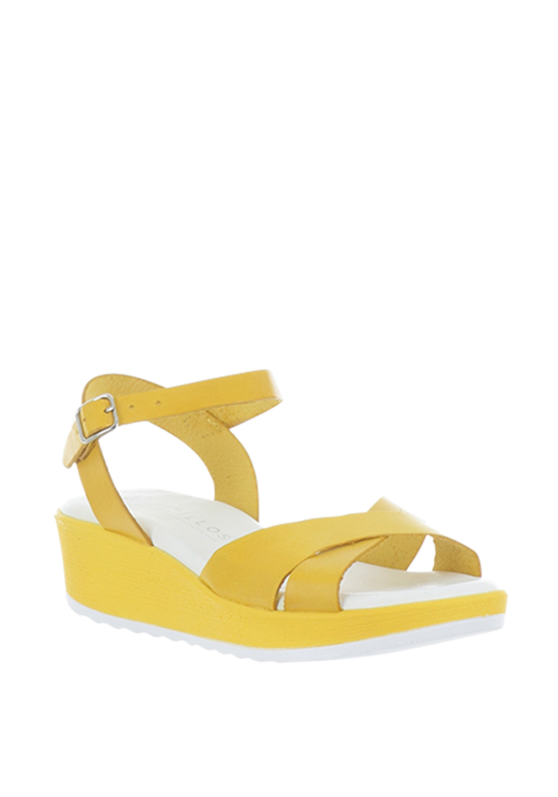 57631a4266 Pitillos Leather Platform Sandals, Yellow. Be the first to review this  product