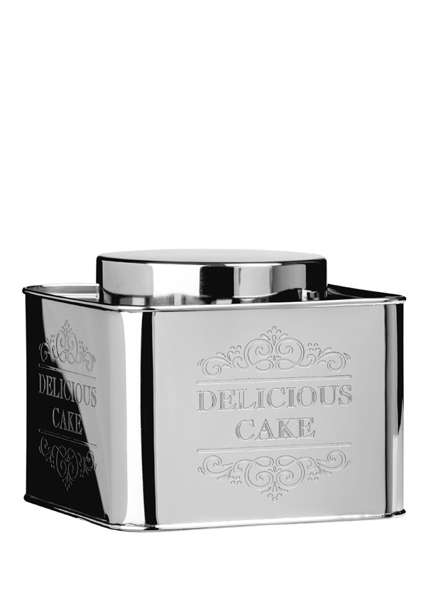 "Chai Stainless Steel ""Delicious Cake"" Storage Tin, 15x19cm"