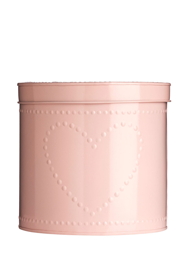 The Sweetheart Collection Dotty Heart Pink Storage Tin, 24x22cm