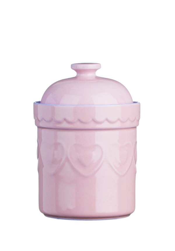 The Sweetheart Collection Pink Hearts Storage Canister, 1.5l