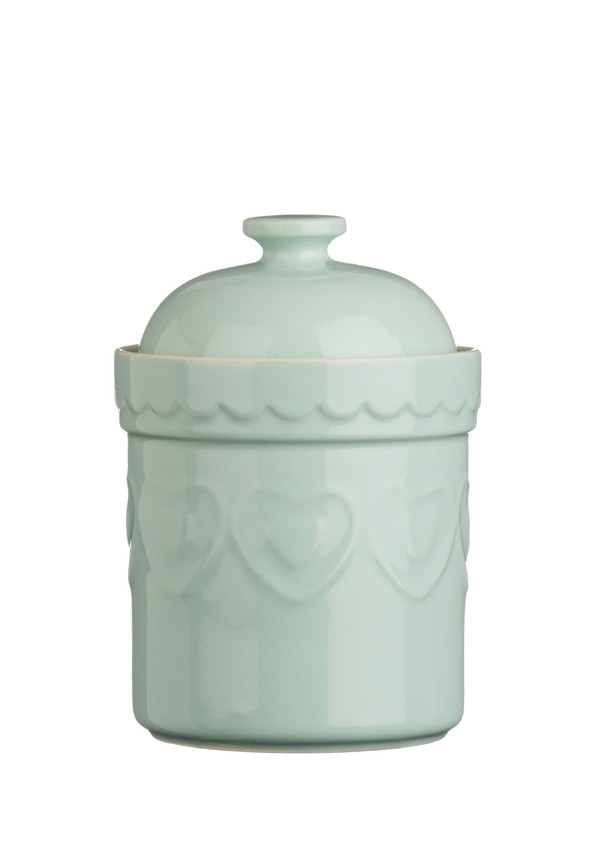 The Sweetheart Collection Green Hearts Storage Canister, 1.5l