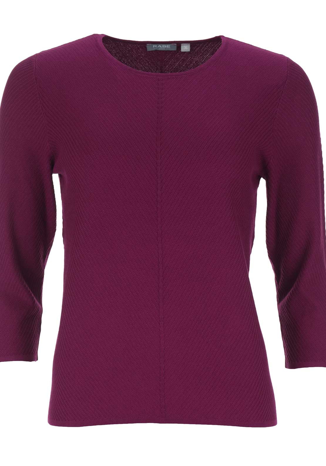 Rabe Textured Round Neck Sweater Jumper, Fuschia Pink