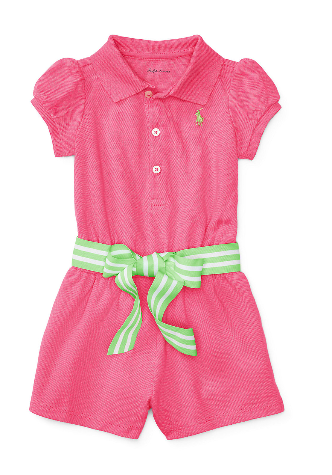 f6d2735be9 Ralph Lauren Baby Girls Romper Playsuit, Pink