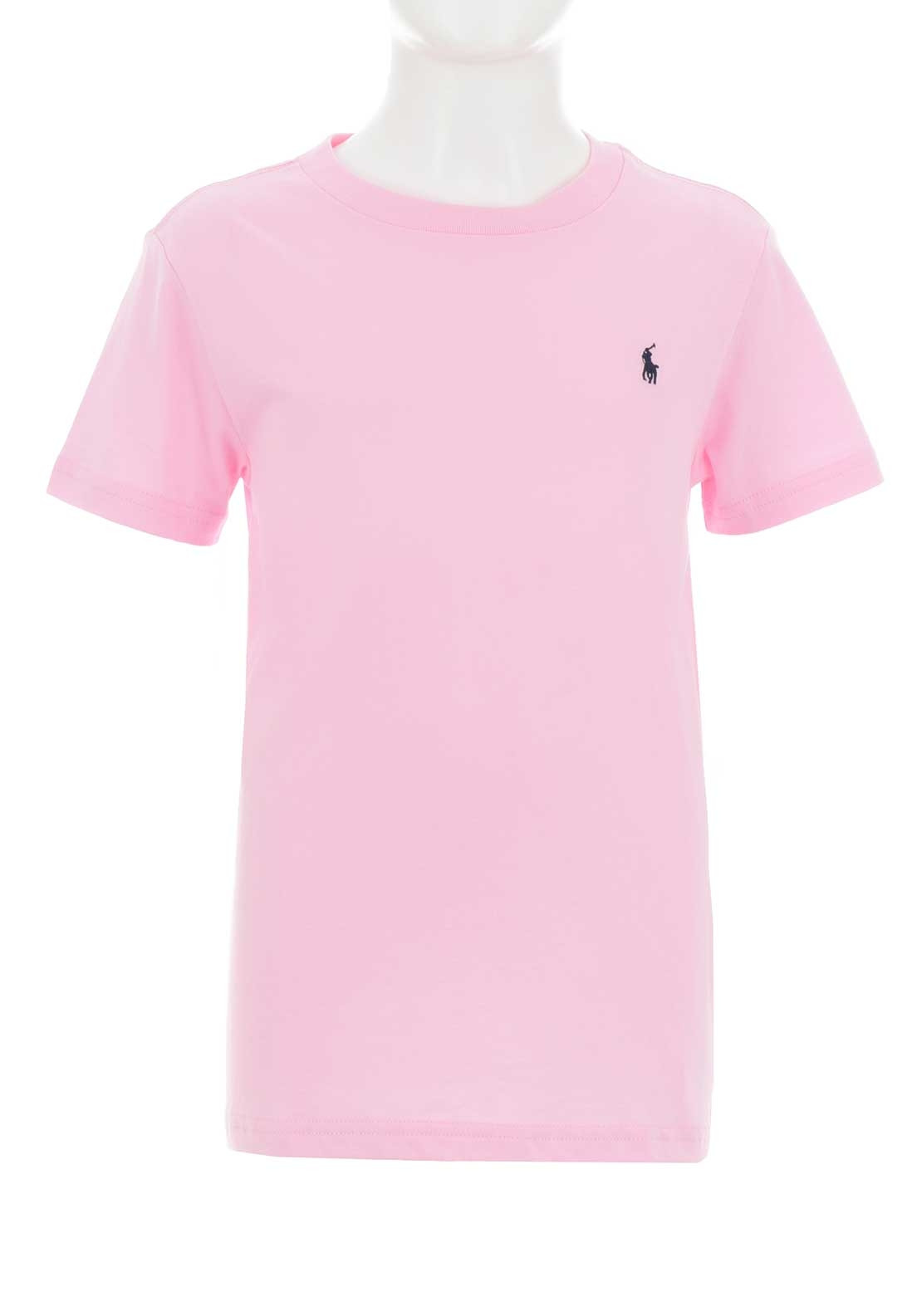 Ralph Lauren Boys Polo T Shirt Pink Mcelhinneys