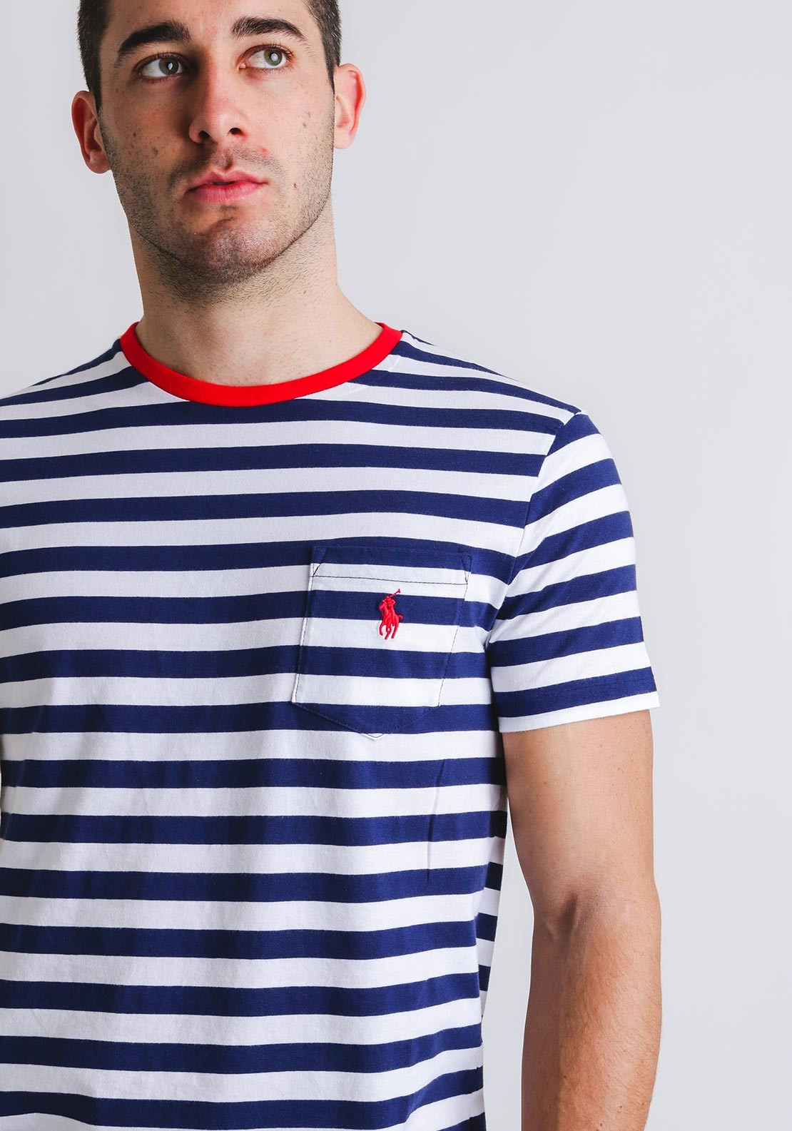 f8233d5af4d25b Ralph Lauren Slim Fit Striped T-Shirt, Navy. Be the first to review this  product