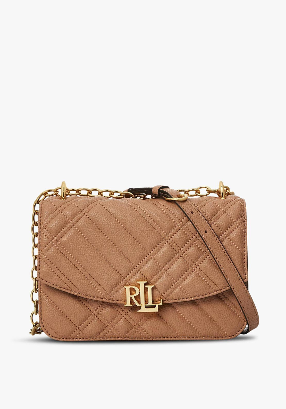 Ralph Lauren Madison Small Quilted Crossbody Bag, Natural